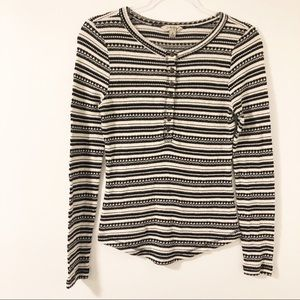 Lucky Brand Striped Thermal Henley